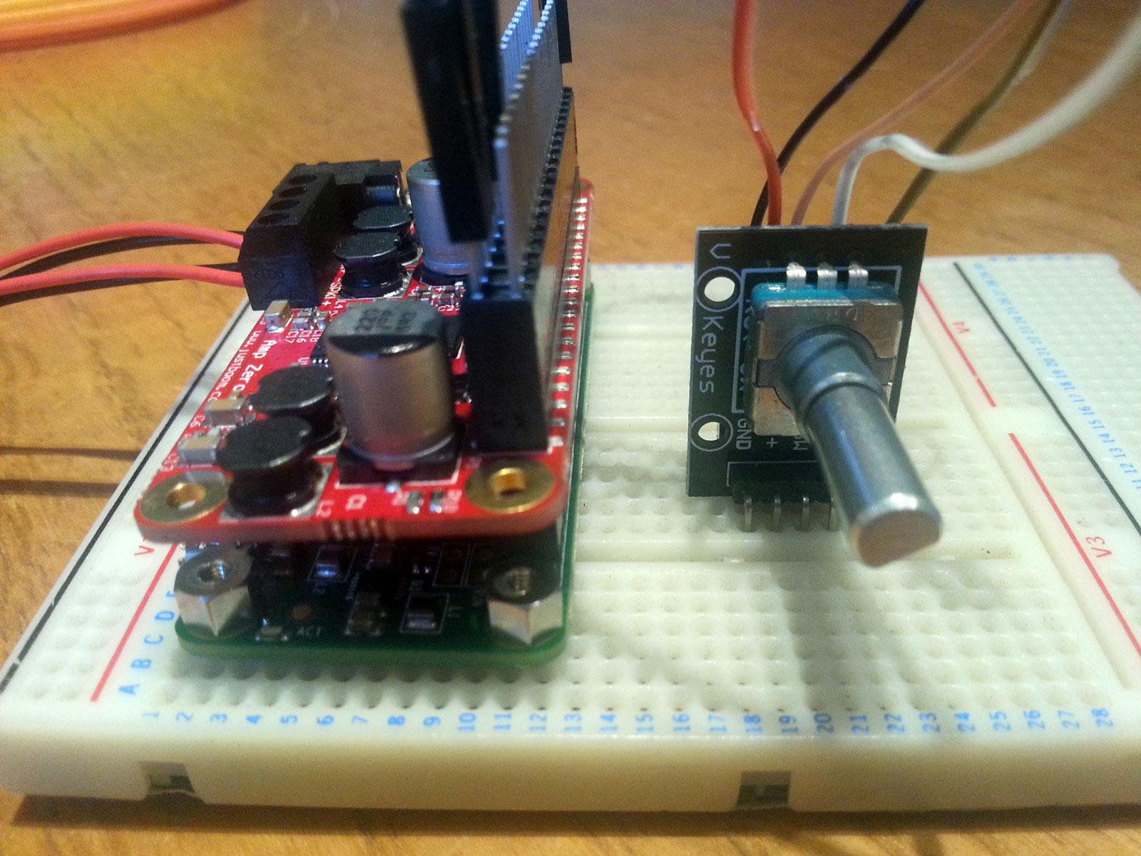 Rpi Andys Blog O Goodness Raspberry Pi How To Install Wiringpi Rotary Volume Control For The